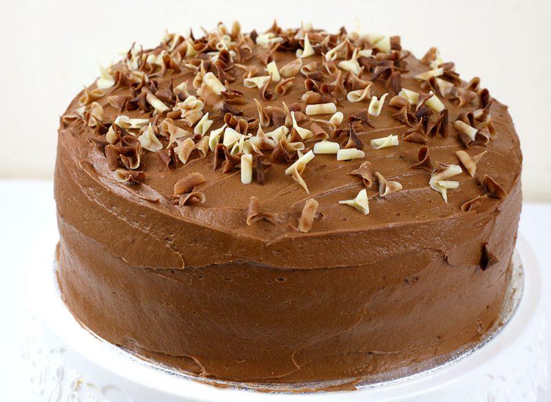 Raspberry & Chocolate Cake