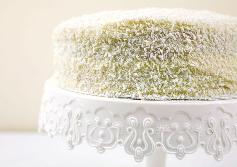 Coconut & Raspberry Cake