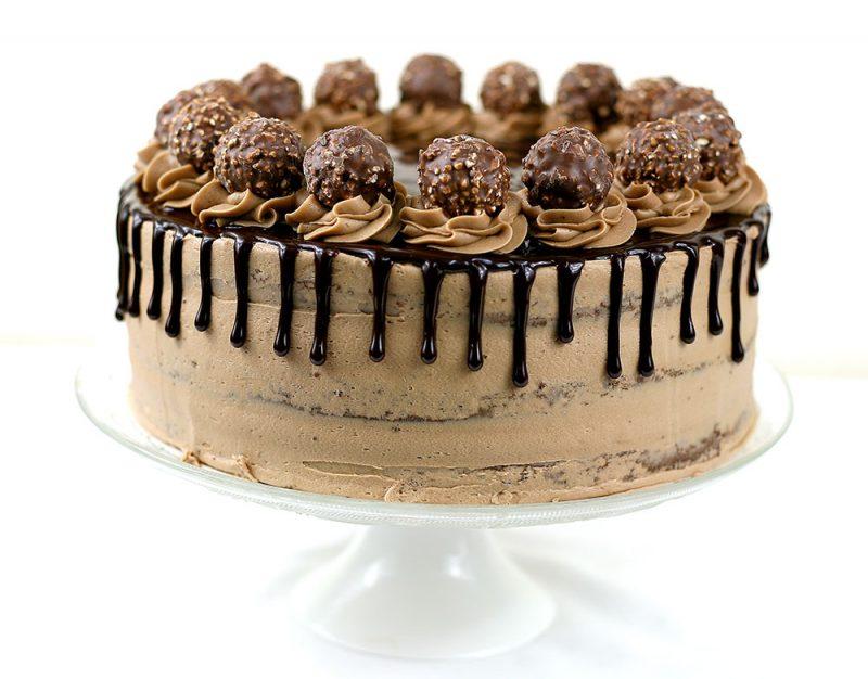 Ferrero Rocher Drip Cake