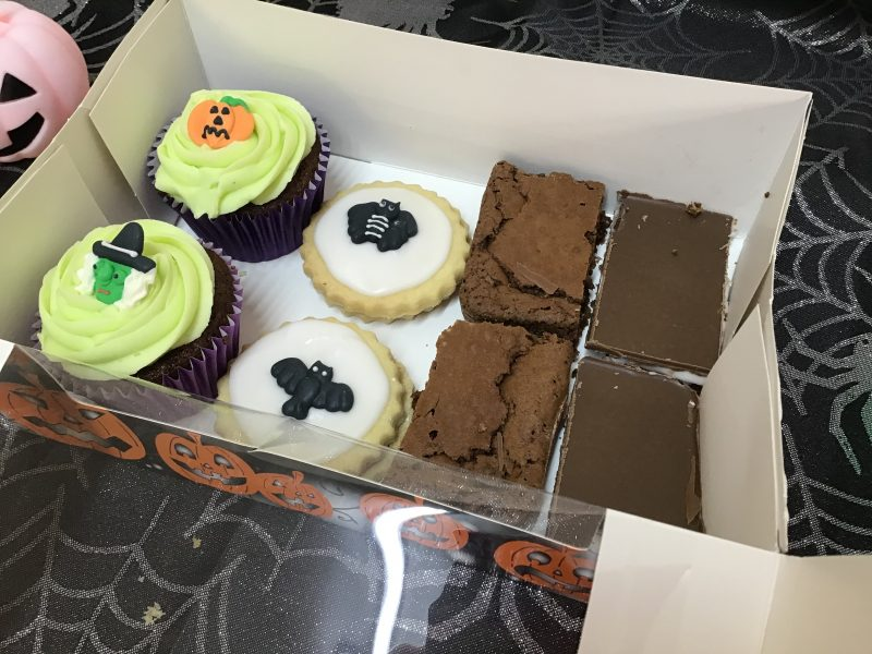 Halloween treat box inside