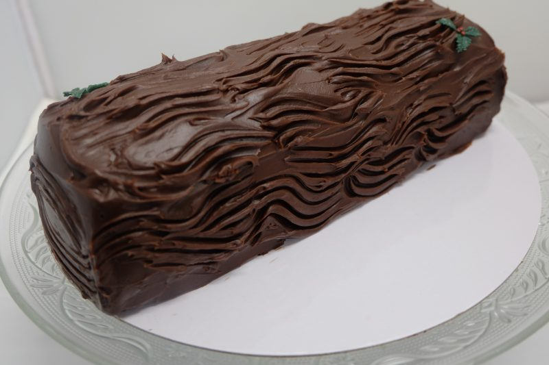 salted caramel choc log